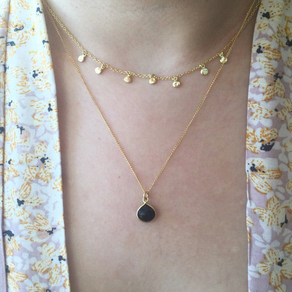 BLACK ONYX SWEETHEART NECKLACE