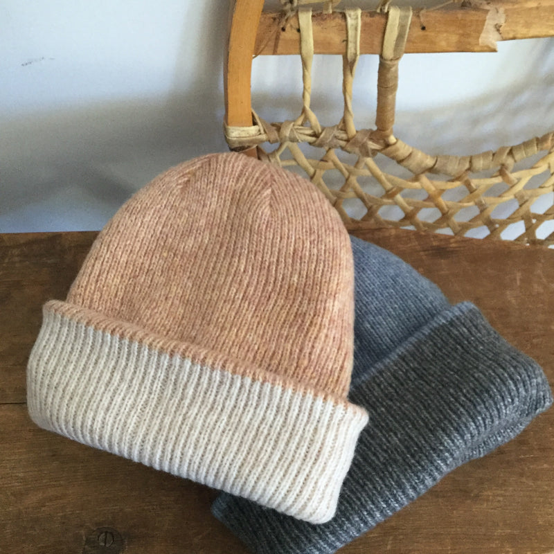 REVERSIBLE BEANIE LIGHT BEIGE