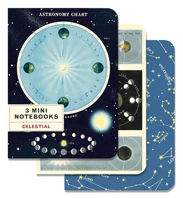 CELESTIAL MINI NOTEBOOK 3-PACK