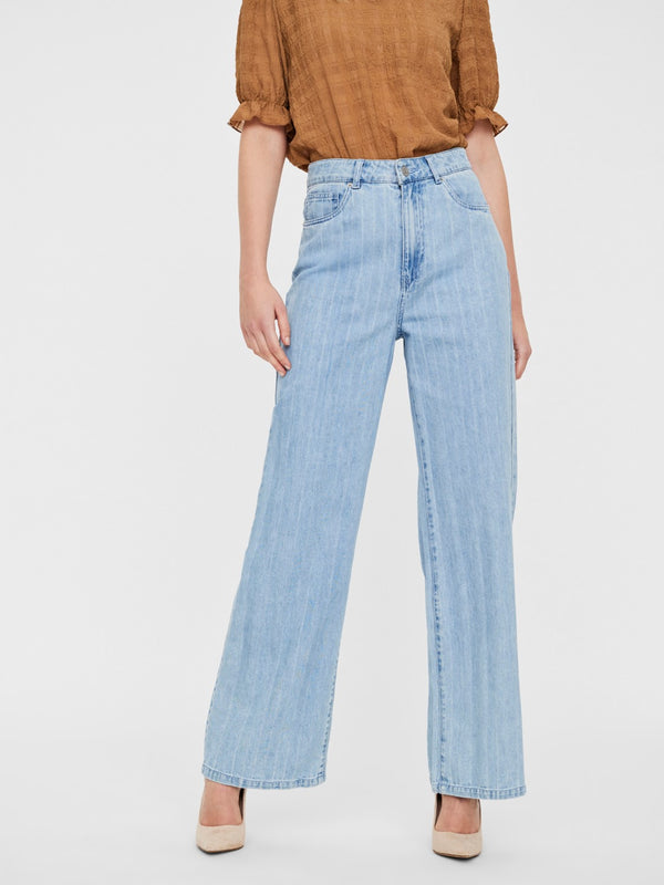 KATHY STRIPED WIDE LEG JEANS