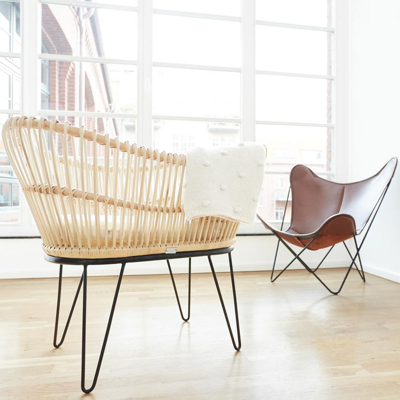 "Luxus Rattan Babybett ""Juno"" by ROOKIE"
