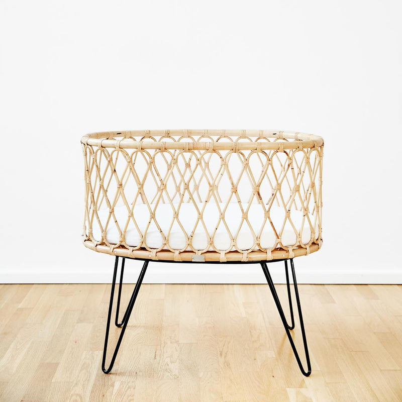 "Luxus Rattan Babybett ""Lana"" by ROOKIE"