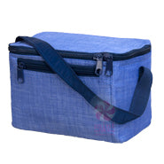 OHMINT Navy Chambrey Lunch Box