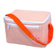 OHMINT Orange Seersucker Lunch Box