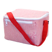 OHMINT Red Seersucker Lunch Box