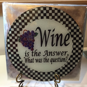 round glass cutting board wine is the answer design