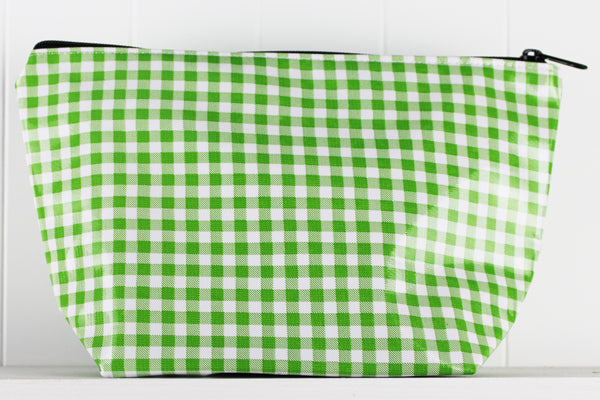sarahjane cosmetic bag green gingham