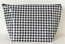 sarahjane cosmetic bag black gingham