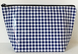 sarahjane cosmetic bag navy gingham