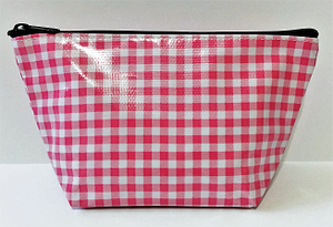 sarahjane cosmetic bag pink gingham