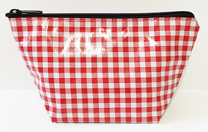 sarahjane cosmetic bag red gingham