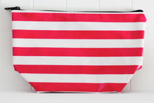 sarahjane cosmetic bag red stripe