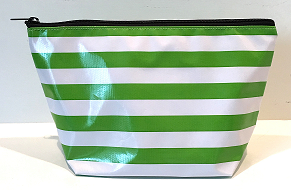 sarahjane cosmetic bag green stripe