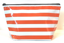 sarahjane cosmetic bag orange stripe
