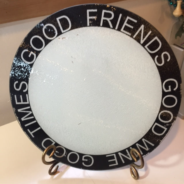 round glass cutting board good friends boarder