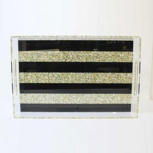 Acrylic tray Black Stripe theme