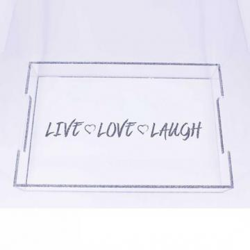 Acrylic tray Live Love Laugh theme