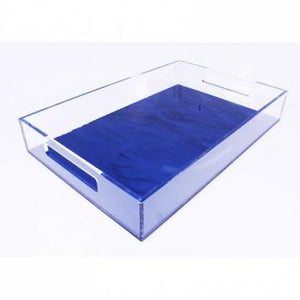 Acrylic  Basic tray with clear sides and color bases. Various sizes available