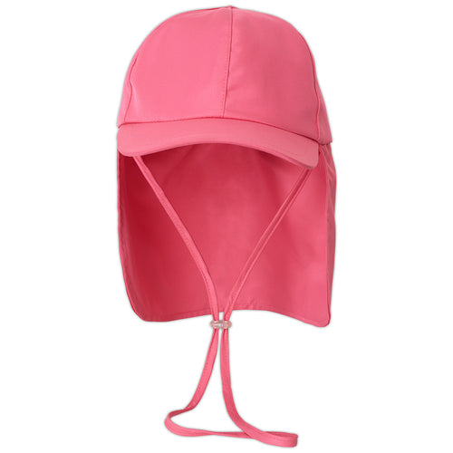 Girls Pink Legionnaire Sun Hat Upf 50 Size S Xl Front View Sunpoplife