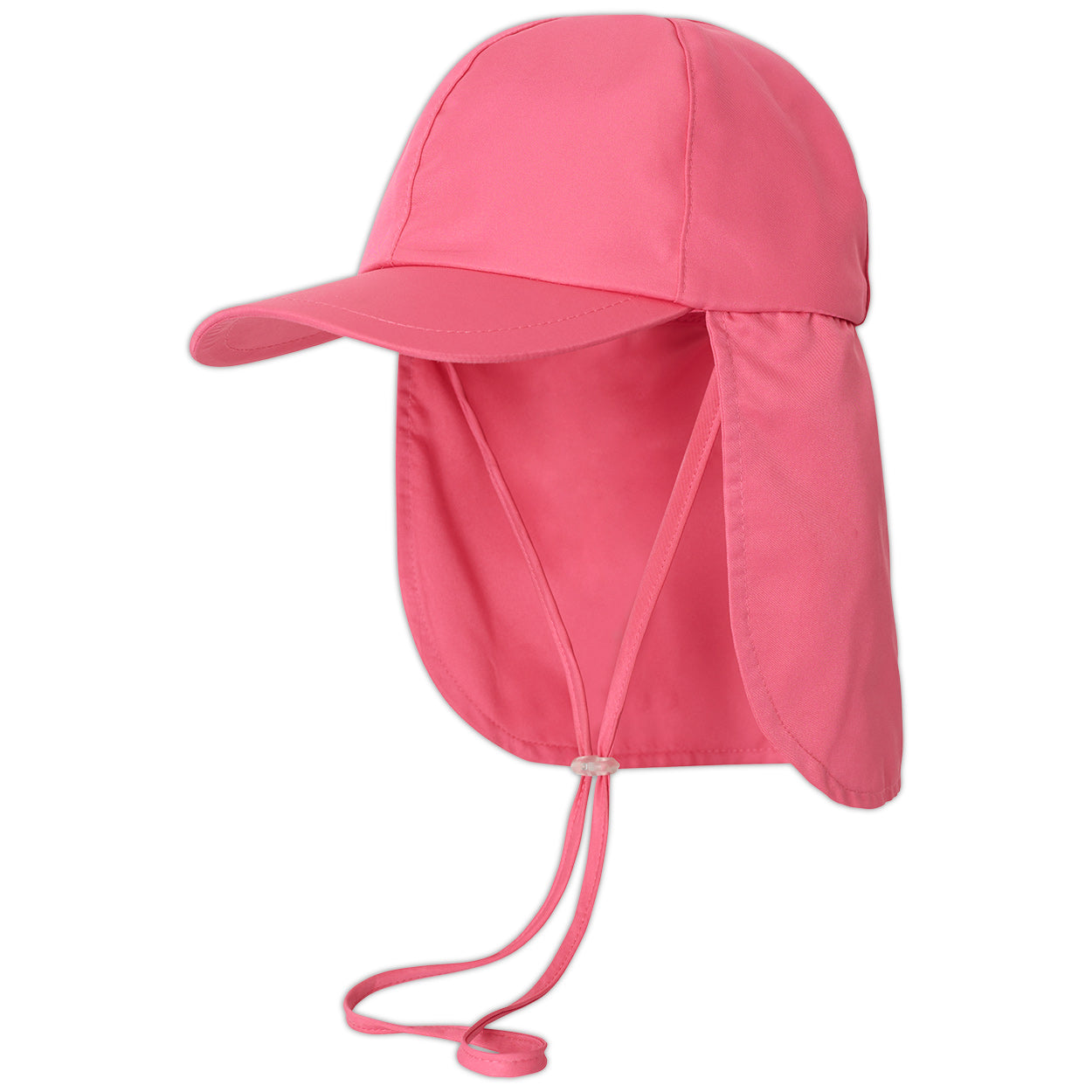 Girls pink legionnaire sun hat upf 50 size s xl left view sunpoplife