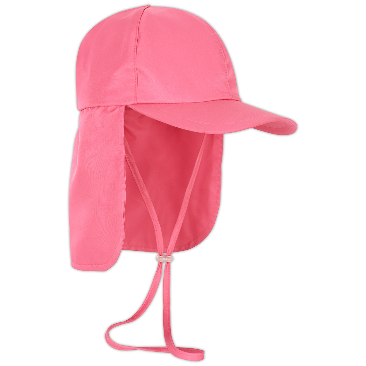 Girls pink legionnaire sun hat upf 50 size s xl right view sunpoplife