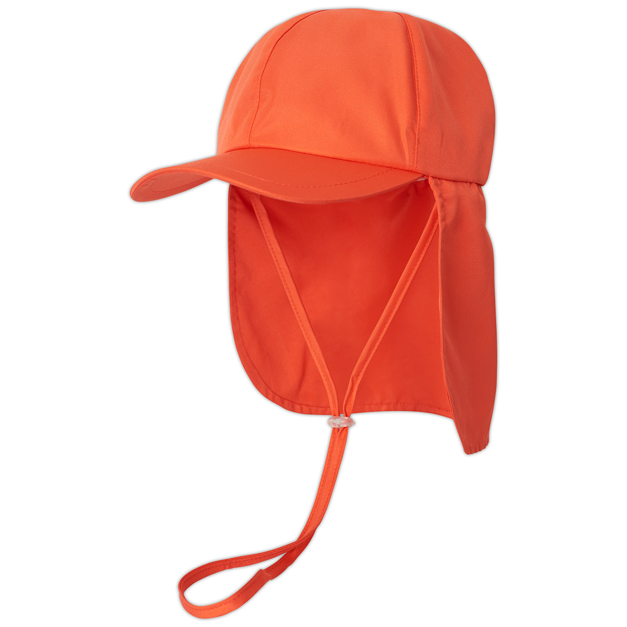 Kids Orange Legionnaire Sun Hat Upf 50 Size S Xl Boys Girls Unisex Sunpoplife Back Left Sunpoplife