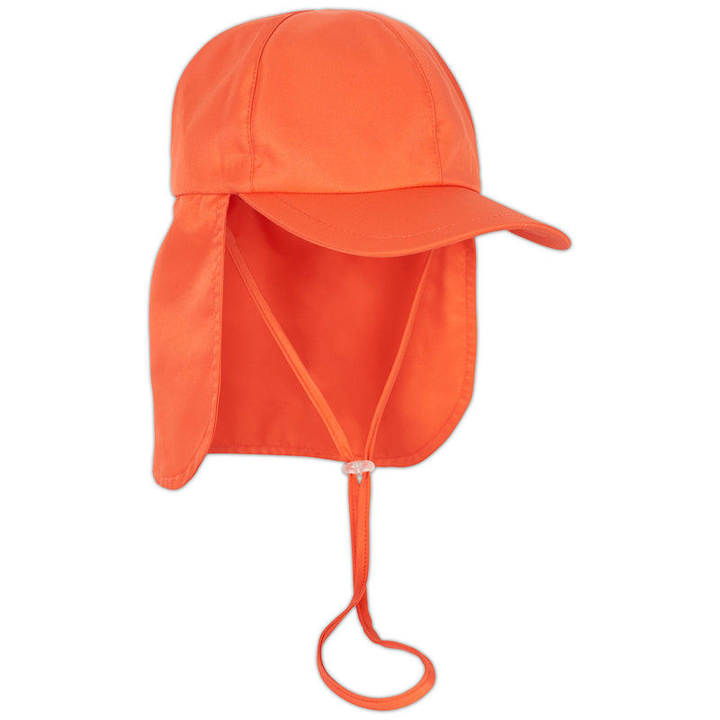 Kids Orange Legionnaire Sun Hat Upf 50 Size S Xl Boys Girls Unisex Sunpoplife Right View Sunpoplife