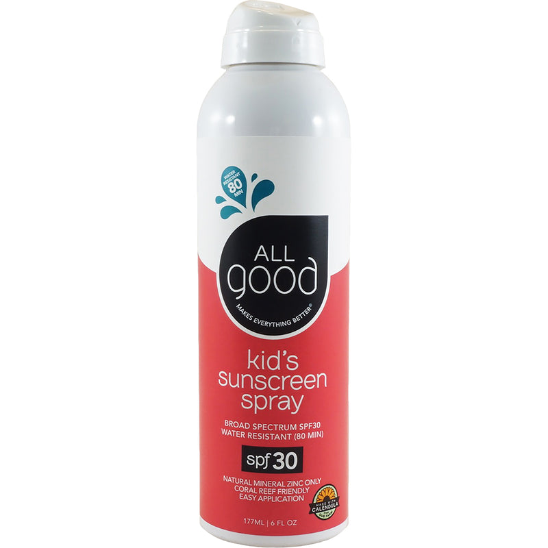 Kids Sunscreen Spray Spf 30 Water Resistant 6 Oz Bottle Allgood Products Sunpoplife