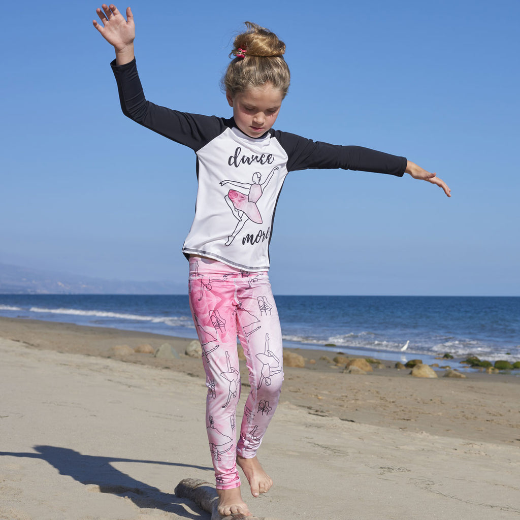 Ballerina Hybrid Youth Leggings UPF 50+