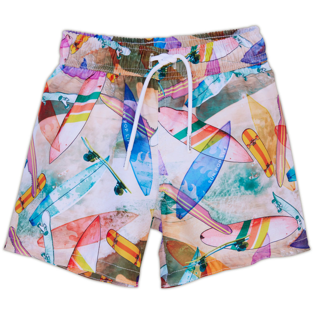 Surf & Skates Swim Shorts for Boys UPF 50