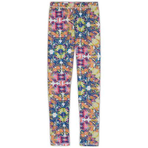 Butterflies Hybrid Leggings Upf50 Kids Girls 2 6 Multicolor Opaline World Sunpoplife