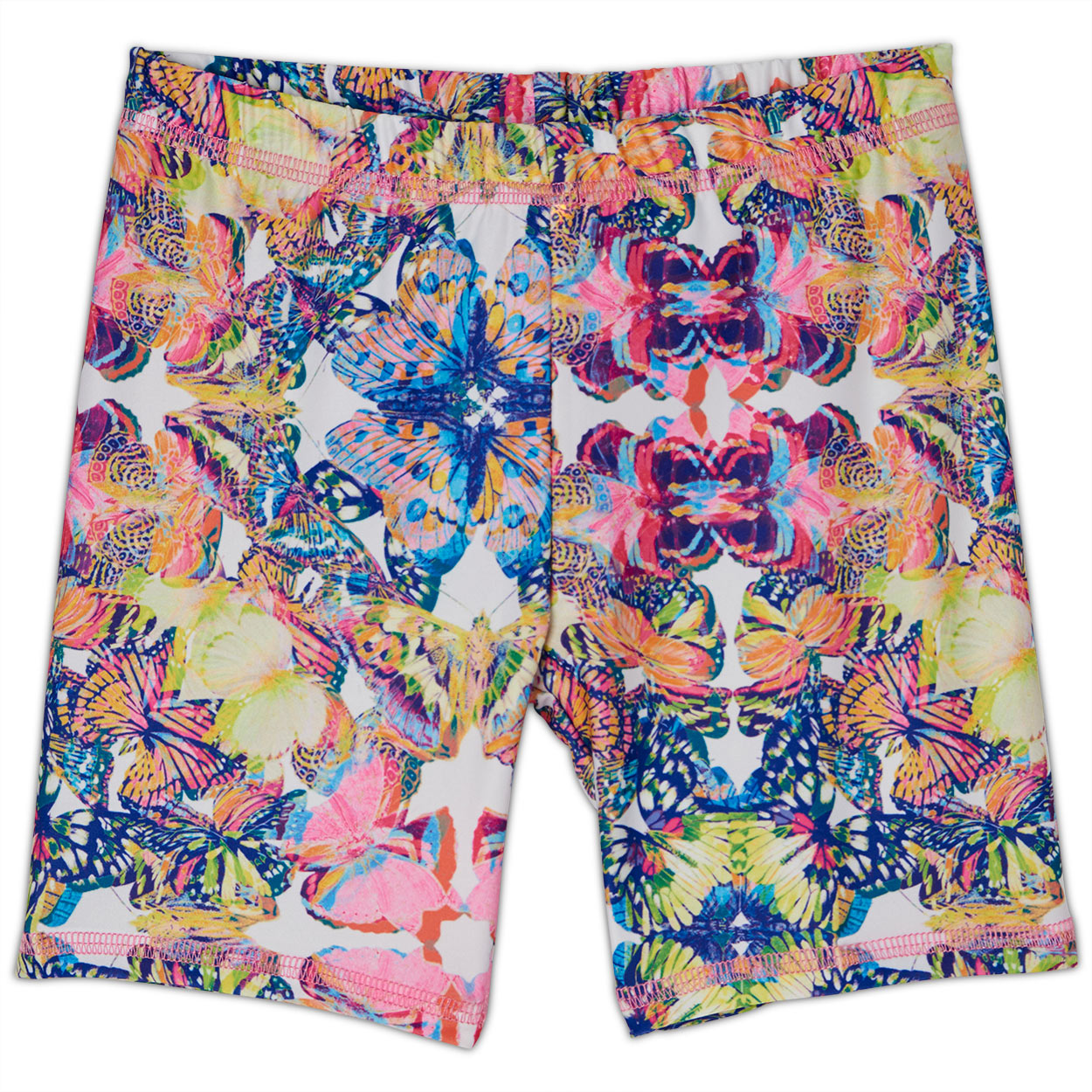Butterflies Hybrid Shorts Upf50 Girls Size 2 12 Multicolor Opaline World Sunpoplife