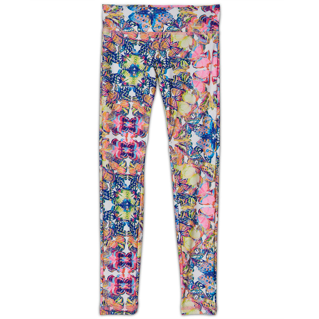 Butterflies Hybrid Youth Leggings Upf50 Kids Girls 2 6 Multicolor Opaline World Sunpoplife