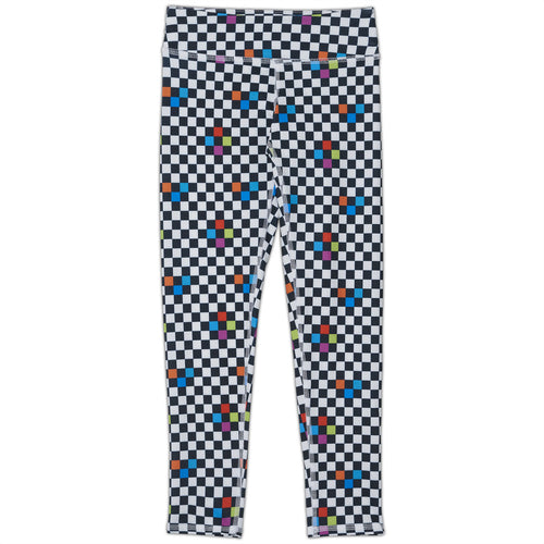 Checkerboard Hybrid Youth Leggings UPF 50+