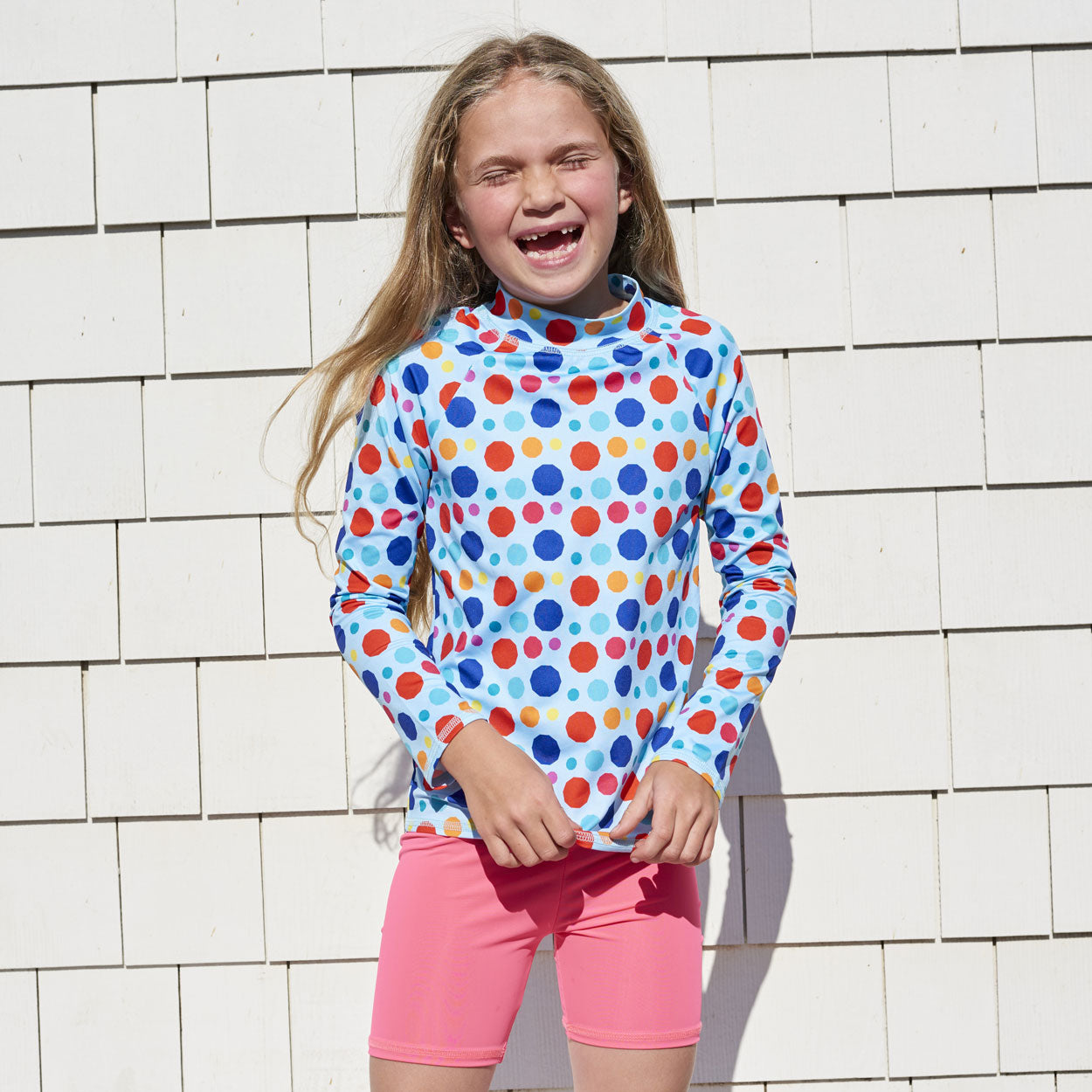 Coral Sunblocker Shorts UPF 50+ for Girls