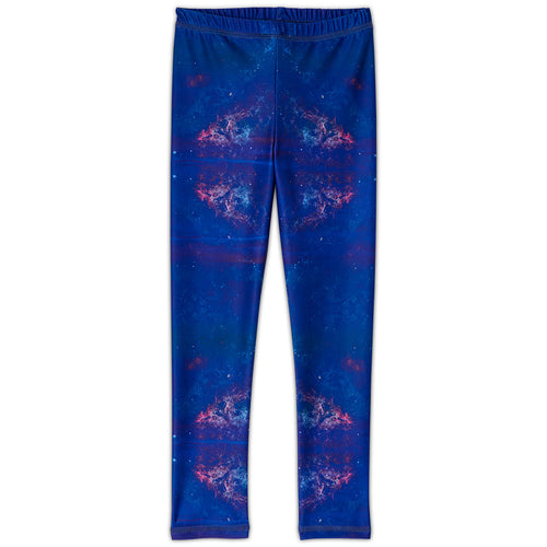 Cosmos Sunblocker Leggings Upf50 Kids 2 6 Purple Unisex Sunpoplife