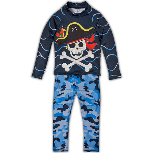 Fun Pirate 2 Pc Rash Guard Set Boys Sunpoplife