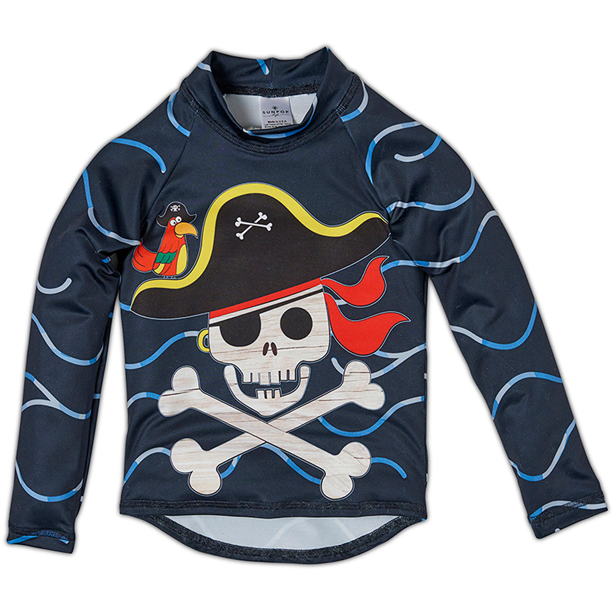 Fun Pirate Top Front Rash Guard Set Boys Sunpoplife