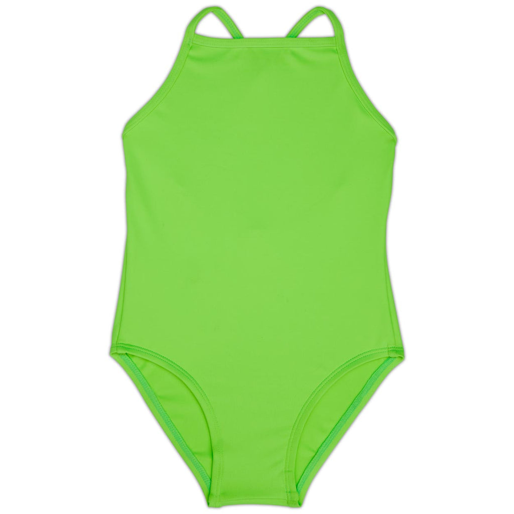 Green Girls' Swimsuit UPF 50+ Sun Pop Life®