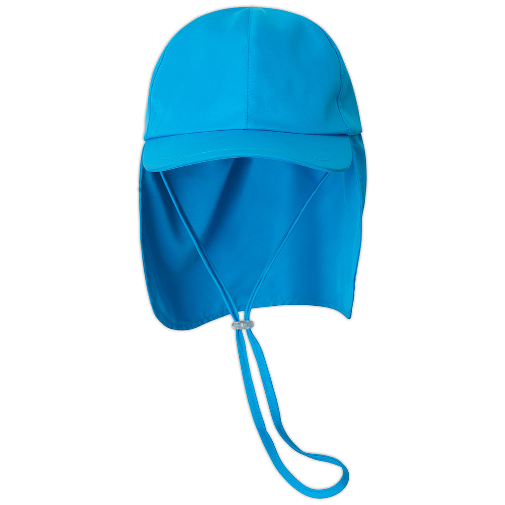 Kids Blue Legionnaire Sun Hat Upf 50 Size S Xl Unisex Boys Girls Blue Front View Sunpoplife