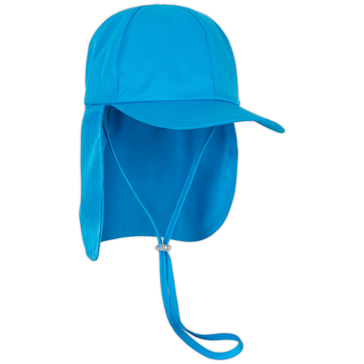 Kids Blue Legionnaire Sun Hat Upf 50 Size S Xl Unisex Boys Girls Blue Right View Sunpoplife