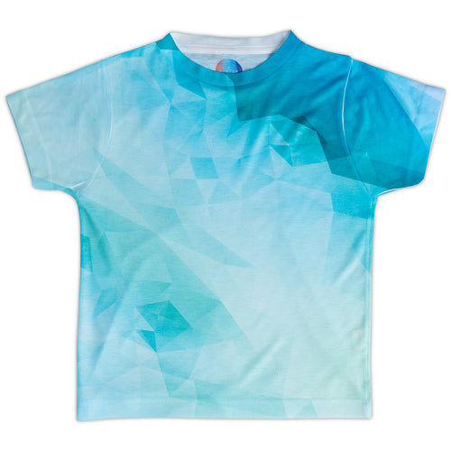 Kids Geometrical Graphic Tshirt Green Aqua Size Xs L Unisex Geo Tropical Sunpoplife
