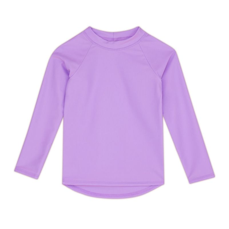 Kids Long-Sleeve Rashguard Top UPF 50+ in Lavender