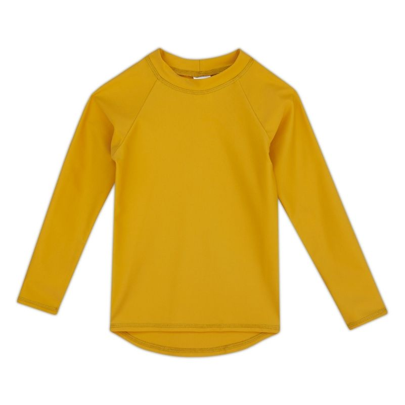 Kids Long-Sleeve Rashguard Top UPF 50+ in Mango Color