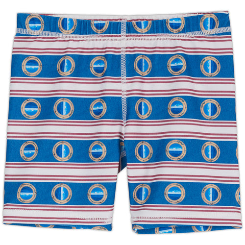 Mariner Hybrid Shorts Upf50 Kids Boys Girls Size 2 12 Red White Blue Stripes Denim Modern Mariner Unisex Sunpoplife