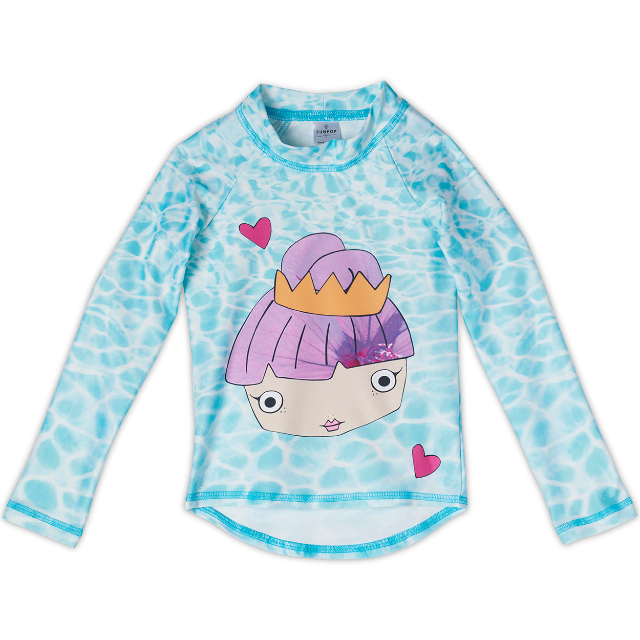 Mermaid Rash Guard Top Girls Sunpoplife