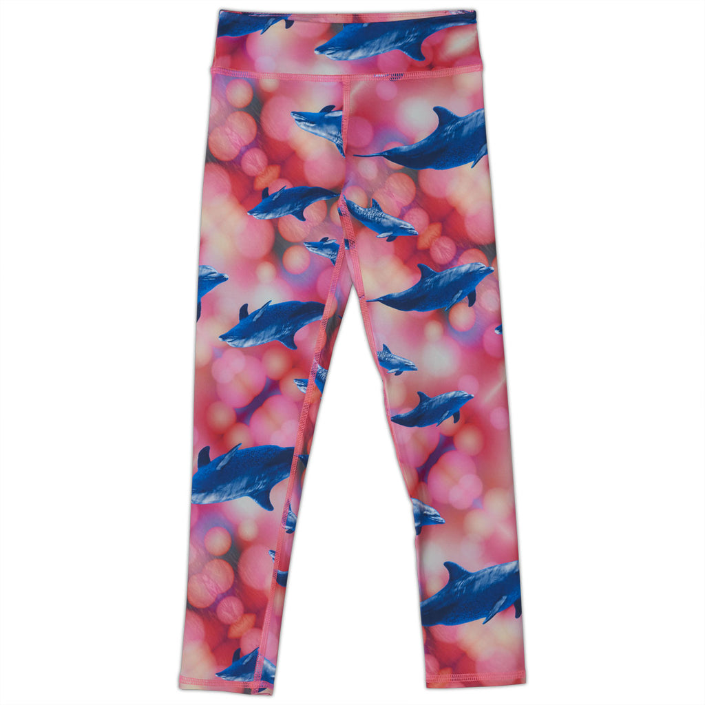 Pink Dolphin Hybrid Youth Leggings UPF 50+