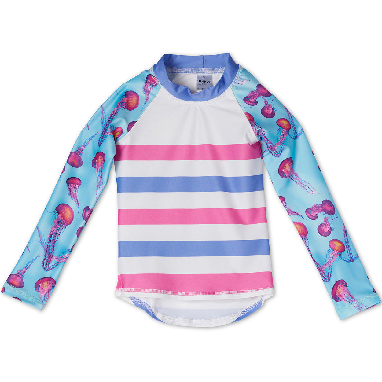 Pink Jellyfish Rash Guard Top Girls Sunpoplife