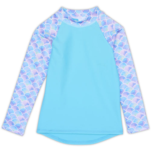 Scalie Girlie Long Sleeve Rash Guard Top UPF 50+ for Girls