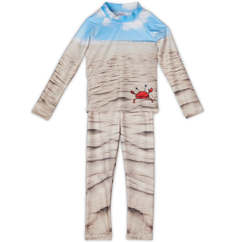 Sunny Crab 2 Pc Rash Guard Set Boys Sunpoplife